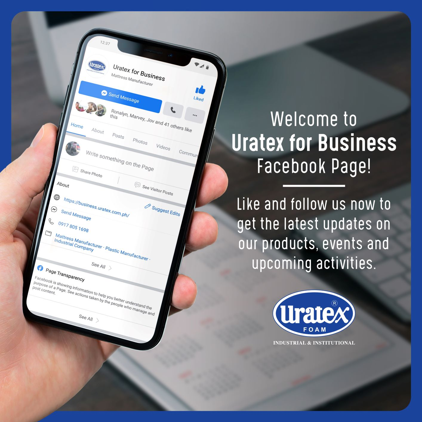 Uratex For Business Launched its Official Facebook Page and Viber Community