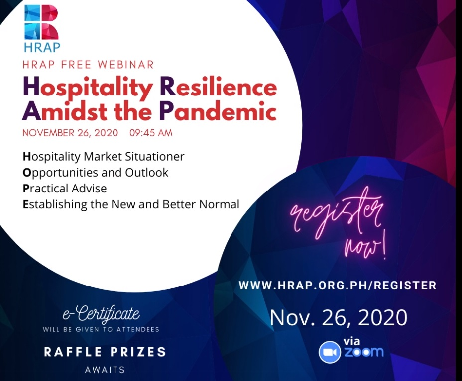 Uratex for Business Supports HRAP Webinar: Hospitality Resilience Amidst the Pandemic