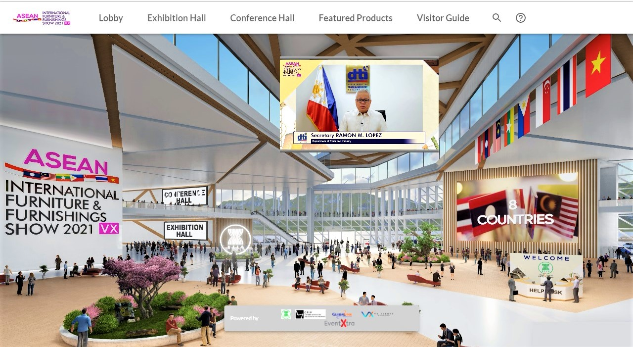 Online Virtually! Uratex for Business Joined the ASEAN International Furniture & Furnishings Virtual Show 2021