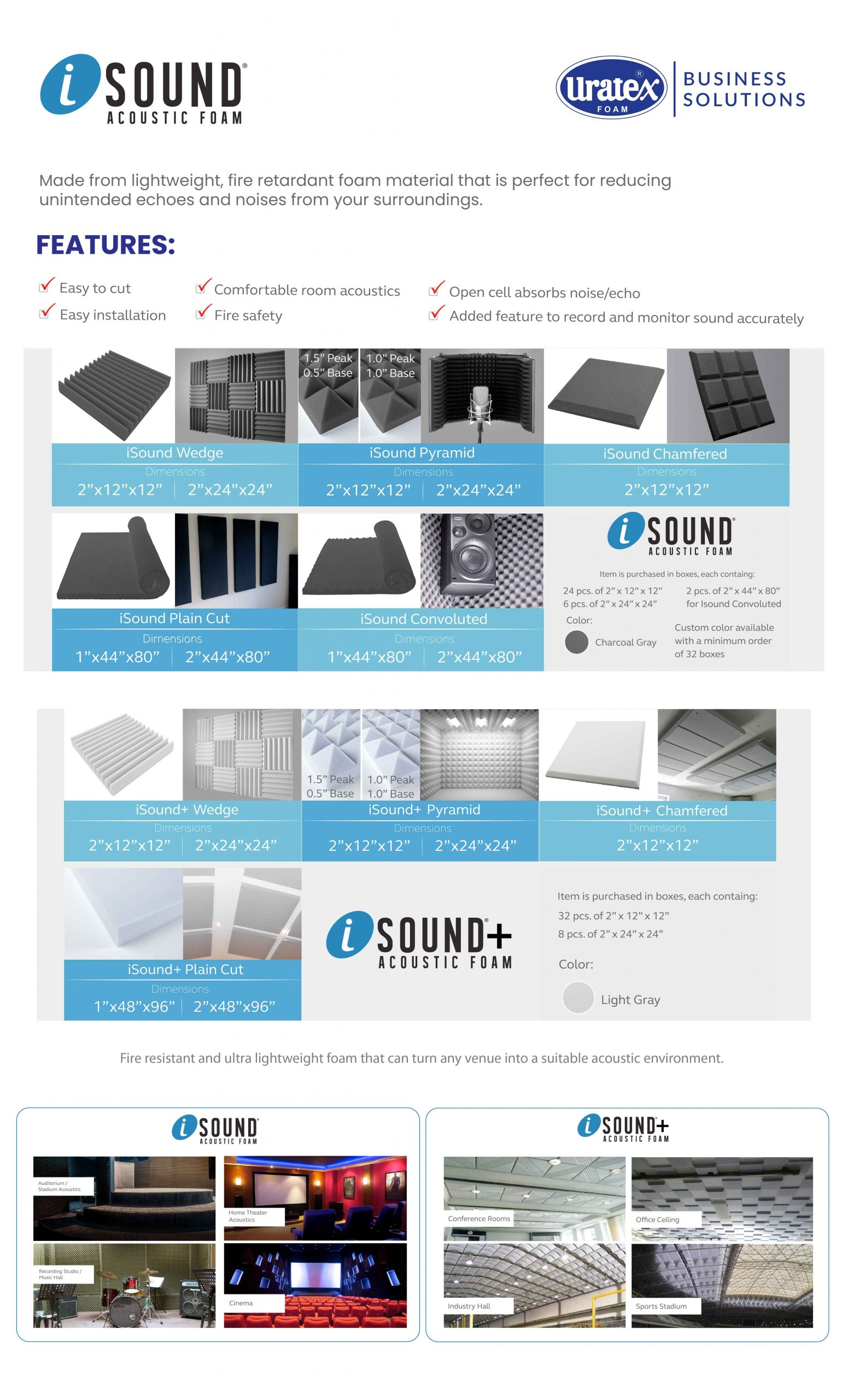 Enhance the Acoustic Experience in Any Venue With Isound Acoustic Foam by Uratex