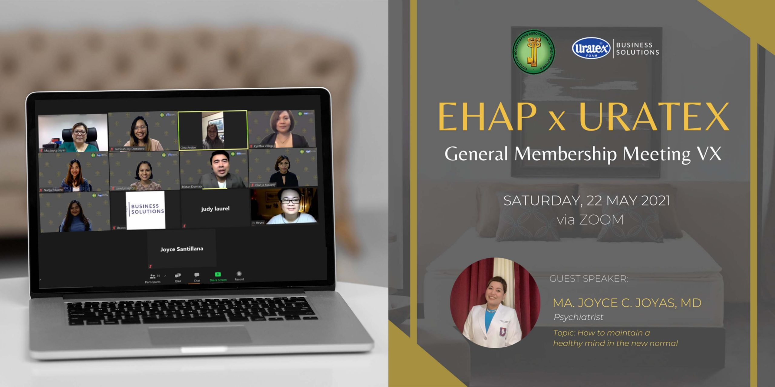 EHAP and Uratex for Business Joined Together for the Virtual General Membership Meeting
